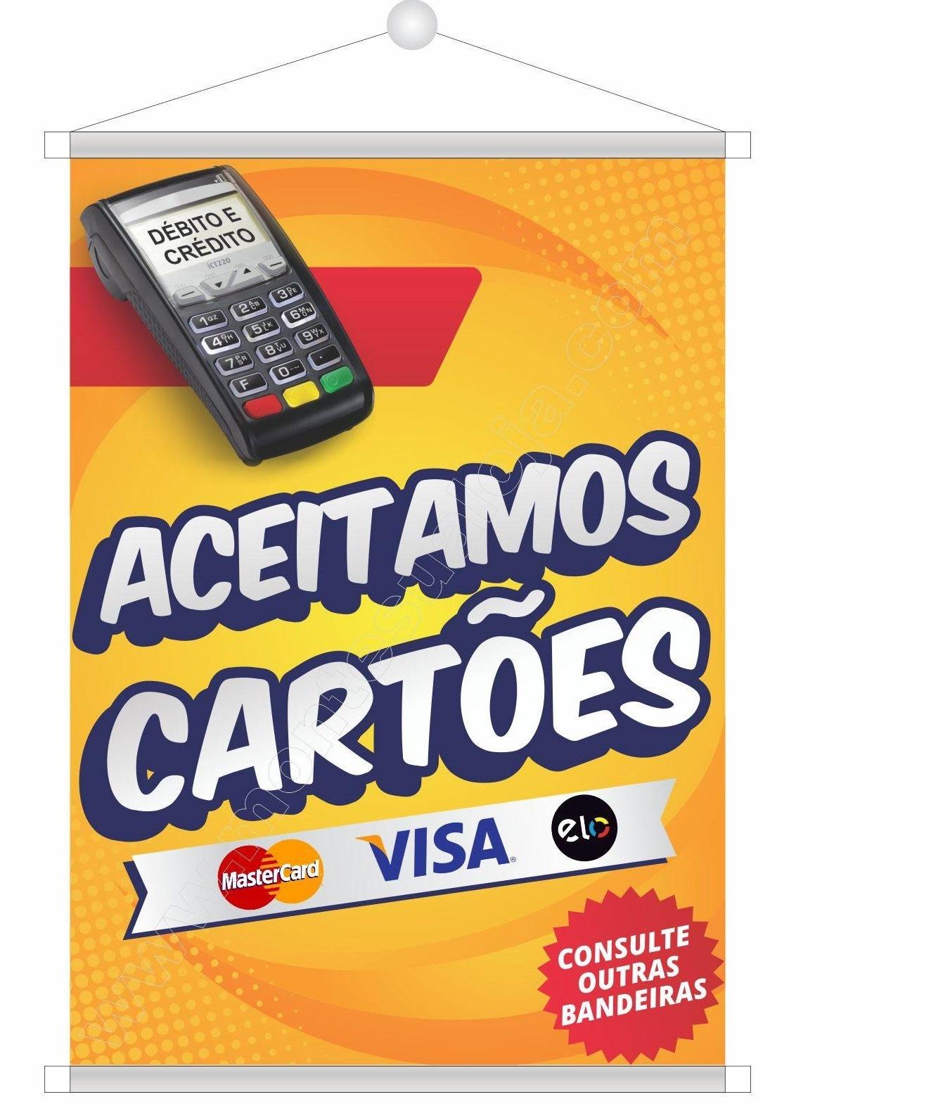 Aceitamos Cartões Debito e Credito!